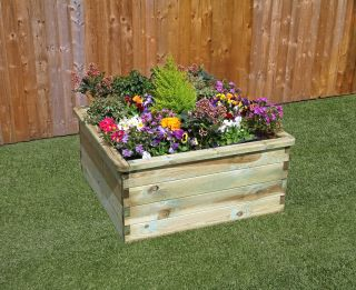 Zest 4 Leisure 90cm (35in) 350L Sleeper Raised Bed Planter