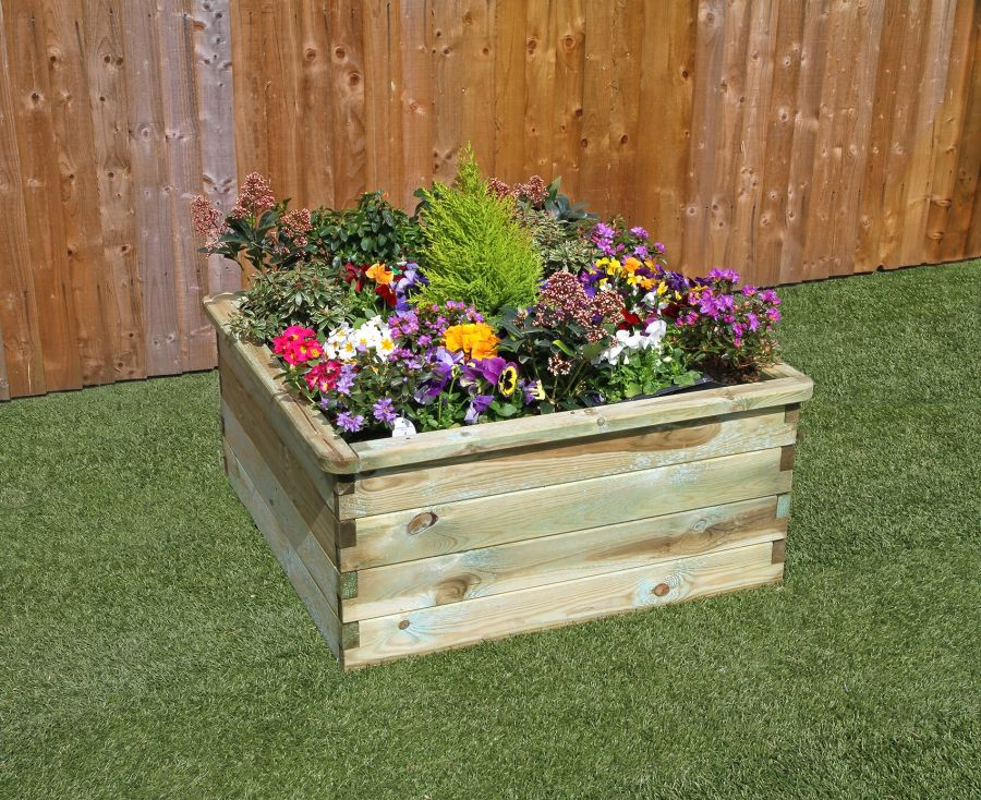 90cm (35in) 350L Sleeper Raised Bed Planter FSC® by Zest 4 Leisure®