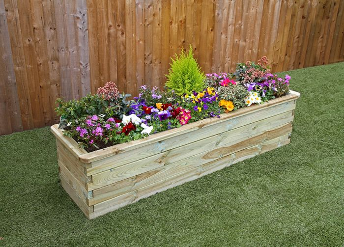 1.8m (5ft 10in) 500L Sleeper Raised Bed Planter FSC® by Zest 4 Leisure®