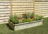 600 Litres - Sleeper Raised Bed by Zest4Leisure - 180cm x 90cm (H30cm)