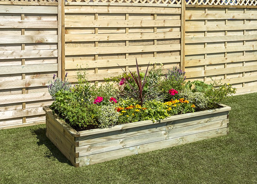 1.8m (5ft 10in) 600L Sleeper Raised Bed Planter FSC® by Zest 4 Leisure®
