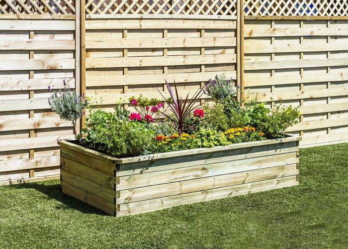 1.8m (5ft 10in) 700L Sleeper Raised Bed Planter FSC® by Zest 4 Leisure®