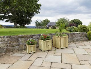 Zest 4 Leisure 60cm (24in) Holywell Planters Set of 3