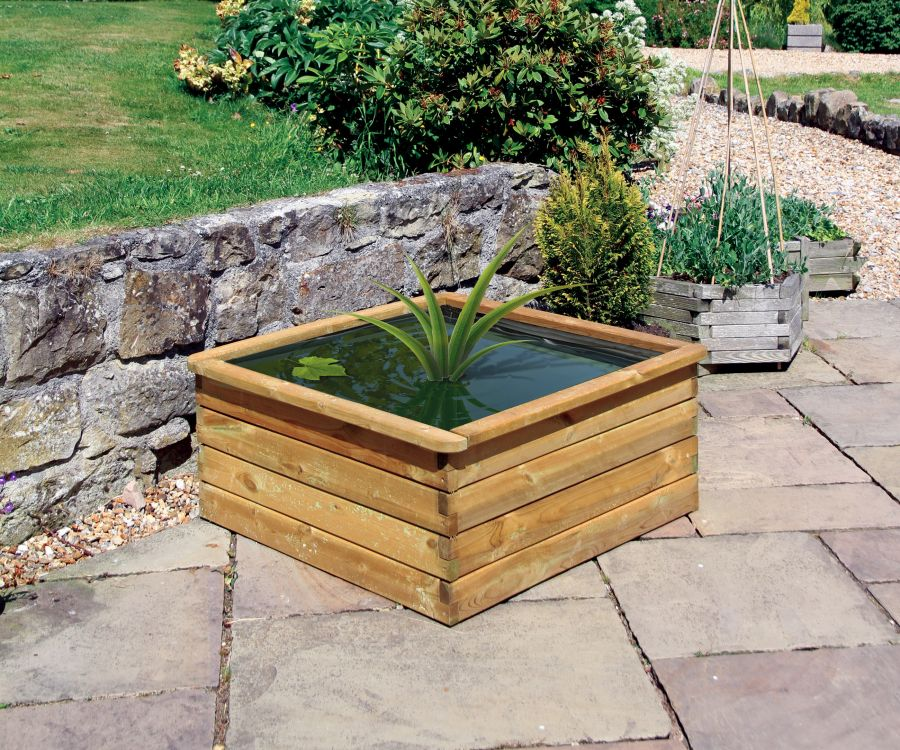 90cm (35in) Aquatic Pond Wooden Planter FSC® by Zest 4 Leisure®