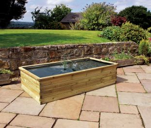 1.8m (5ft 10in) Aquatic Pond Wooden Planter FSC® by Zest 4 Leisure®