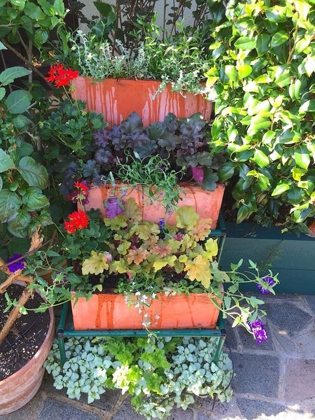 80cm Terracotta Fibrecotta Trough Planter