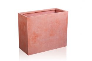 60cm Terracotta Fibrecotta Tall Trough Planter