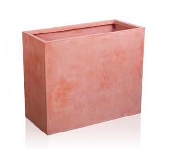 76cm Terracotta Fibrecotta Tall Trough Planter