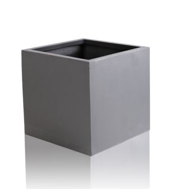 Dark Grey Fibrecotta Cube Planters – Set of 2 - 40cm