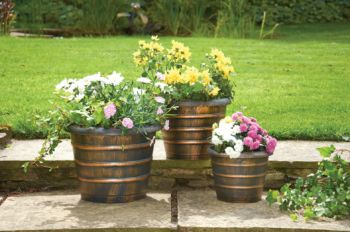 Set of 3 Beehive Shaped Planters