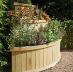 122cm Wooden Marberry Cascade Planter - By Rowlinson