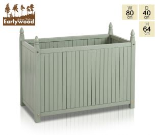 L80cm Hardwood Versailles Olive Green Trough Planter