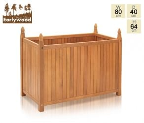 H65 x L80cm Hardwood Versailles Trough Planter
