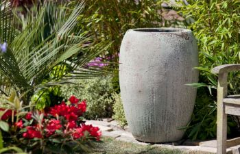 Ancient Stone Pot - Large  (77cm tall by 55cm wide)