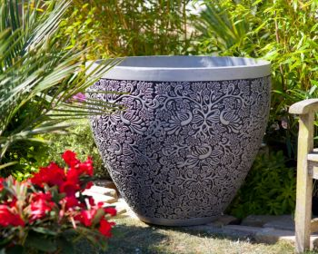 Large Ornate Plant Pot - Large  (70cm tall by 81cm wide)