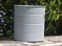 Aged Zinc Churn Planter - 21.5cm