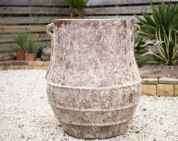 Rustic Stone Urn (100cm tall by 88cm wide)