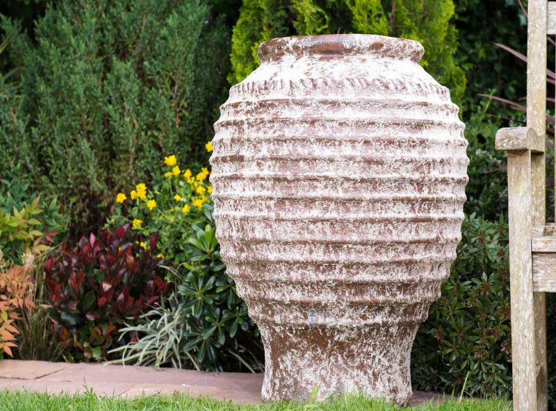 Rustic Stone Urn (75cm tall by 58cm wide)