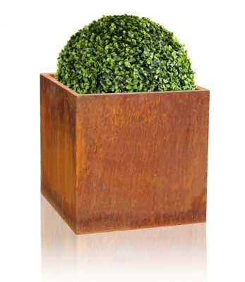 H60cm Large Corten Steel Cube Planter