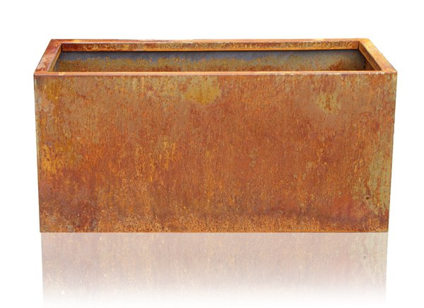 L100cm Deep Corten Steel Trough Planter
