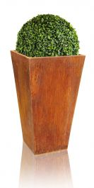 H90cm Tall Corten Steel Flared Planter