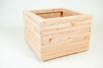 48cm Larch Wood Medium Square Planter