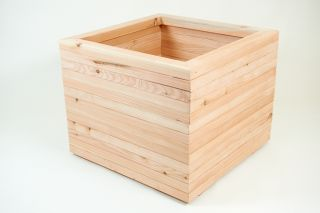 75cm Larch Wood Extra Large Square Planter