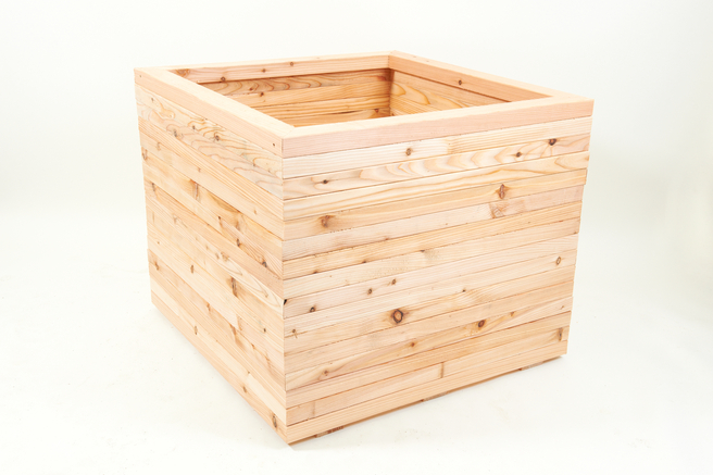 90cm Larch Wood Mega Square Planter
