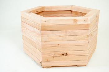 76cm Large Larch Hexagonal Planter