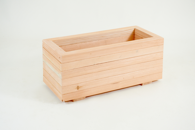 68cm Larch Wood Small Trough Planter