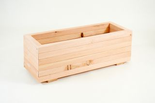 84cm Larch Wood Medium Trough Planter
