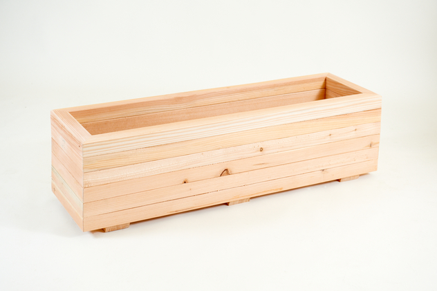 1.04m Larch Timber Large Trough Planter