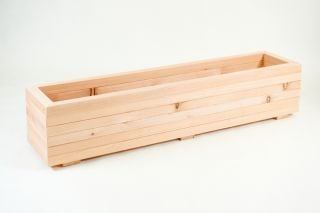1.4m Larch Timber Extra Large Trough Planter