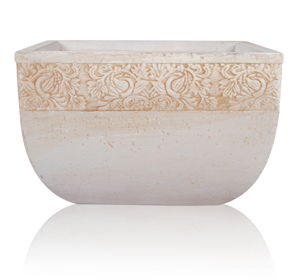 Denon Fibrecotta Low Square Planter - L42cm