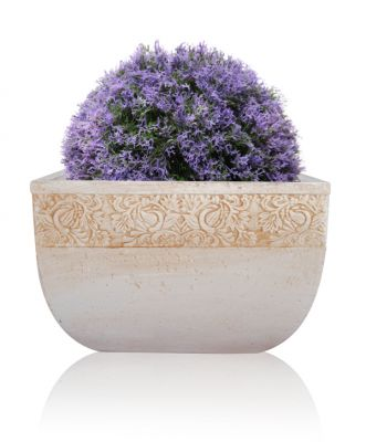 30cm Artificial Topiary Ball Purple Heather by Gardman