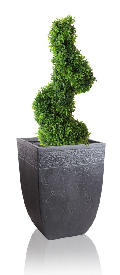 Charissa Fibrecotta Low Square Planter - H29cm