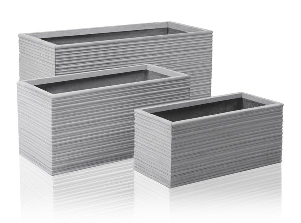 Berniss Fibrecotta Trough Planter - L60cm