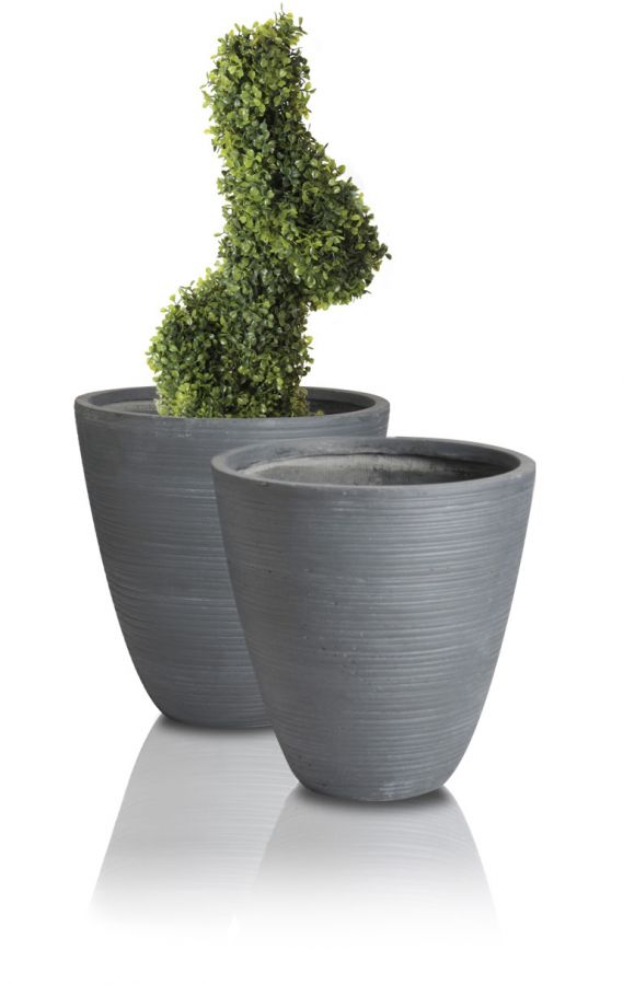 Hemon Fibrecotta Round Planter H30cm - Set of 2
