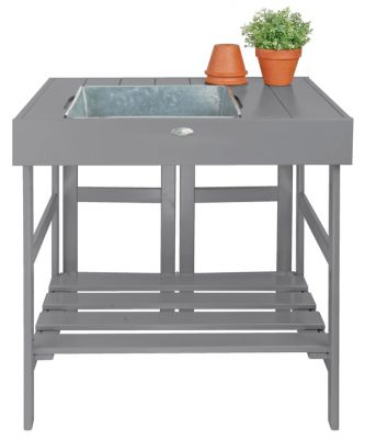 "2' 8"" Garden Potting Table - Grey"