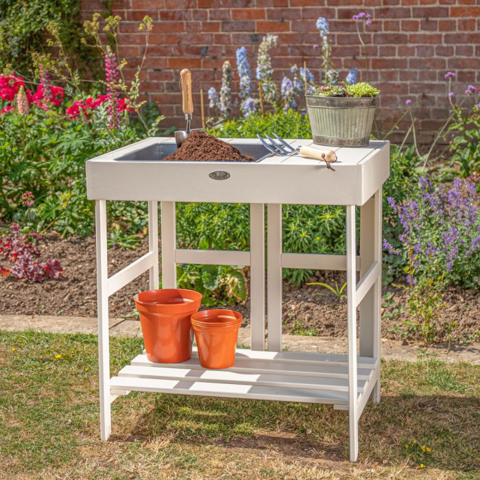 "2' 6"" Garden Potting Table - Cream"