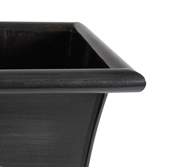 L60cm Zinc Galvanised Trough Planter - By Primrose®