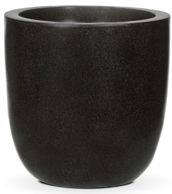 Capi LUX Black Egg Planter D34 x H34cm