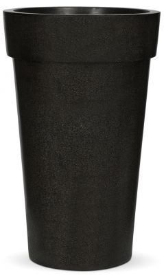 Capi LUX Black Vase Tall Planter with Lip D47 x H76cm
