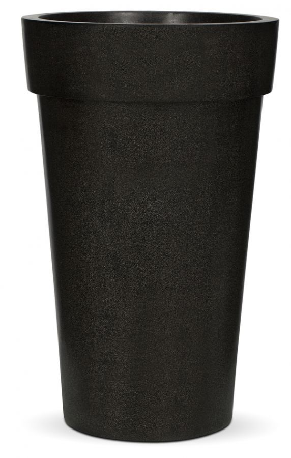 Capi LUX Black Vase Tall Planter with Lip D57 x H92cm