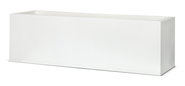 88cm Capi LUX White Trough Planter