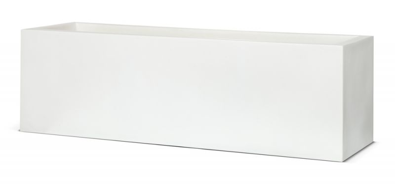 Capi LUX White Trough Planter W100 x D40 x H40cm