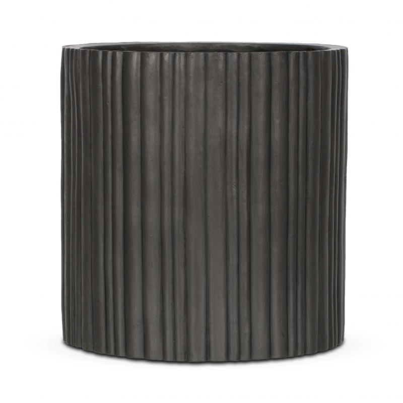 Capi Nature Antracite Cylinder Planter D30 x H30cm