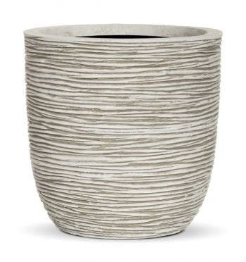 34cm Capi Nature Ribbed White Egg Planter