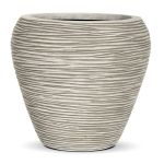 Capi Nature Ribbed White Tapered Vase Planter D31 x H28cm