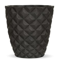 Capi Nature Anthracite Cone Tapered Vase Planter D55 x H52.5cm